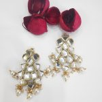 Kundan drop earrings