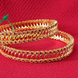 Elegant gold plated bangles. Set of 2 Pcs.