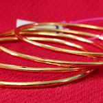 Plain gold plated bangles. Set of 4 Pcs.