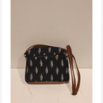 black ikat sling bag
