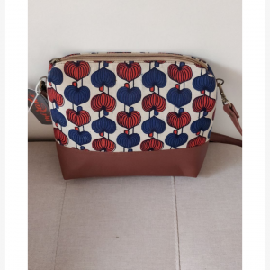 sling bag(cream,blue and red)