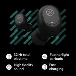 Noise Shots NUVO Bluetooth Truly Wireless Earbuds [with mic] (Stealth Black)