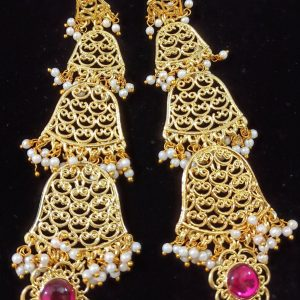 Dangling Bell Shaped Long Earring