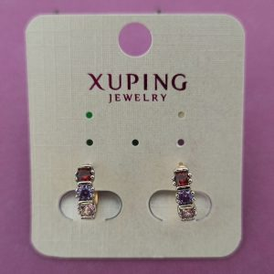 Earrings with High Quality Coloured Stones