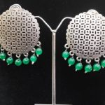 Antique look large Jharokha style earrings