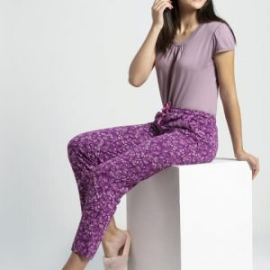 Jockey Lavender Scent Assorted Prints Knit Lounge Pants